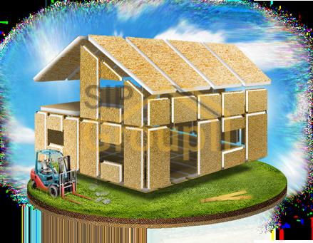 Комплектация СИП дом №1 - домокомплект без сборки и фундамента