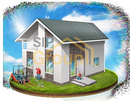 Комплектация СИП дома №3 - Домокомплект + фундамент + монтаж + внешняя отделка