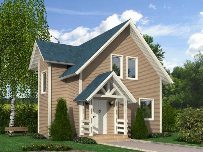 Проект дома из СИП панелей площадью 96 м2