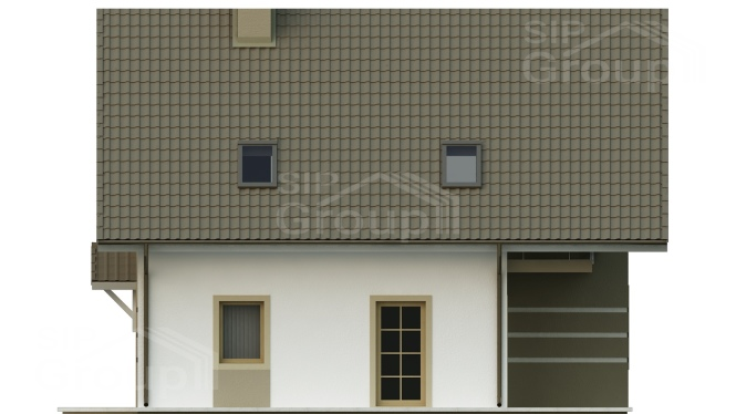 "Проект дома из СИП панелей ""Бавария"" - фасад"
