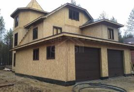 Гараж из СИП панелей, пристроенный к дому