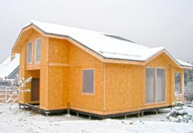 Сборный дом из СИП панелей