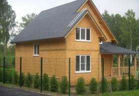 Дачный сборный дом из СИП панелей - фото