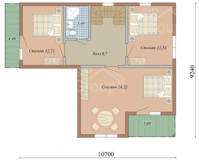 """Проект дома из СИП панелей """"Титан"""" - планировка"""