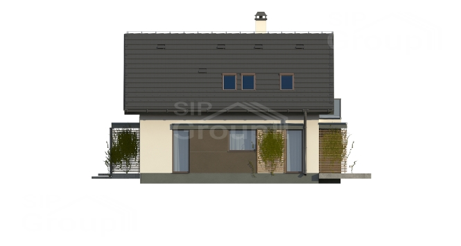 "Проект дома из СИП панелей ""Верона"" - фасад"