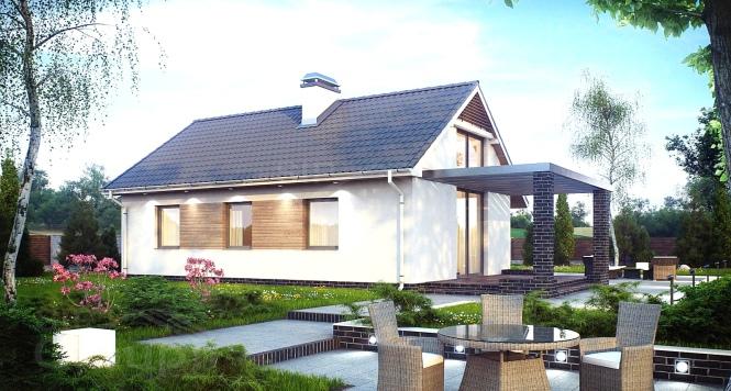 """Проект одноэтажного дома из СИП панелей """"Бамби"""""""