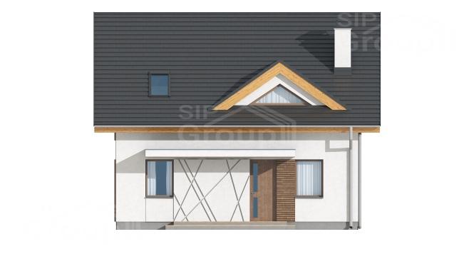 """Проект дома из СИП панелей с мансардой """"Индивидуальный"""" - фасад"""