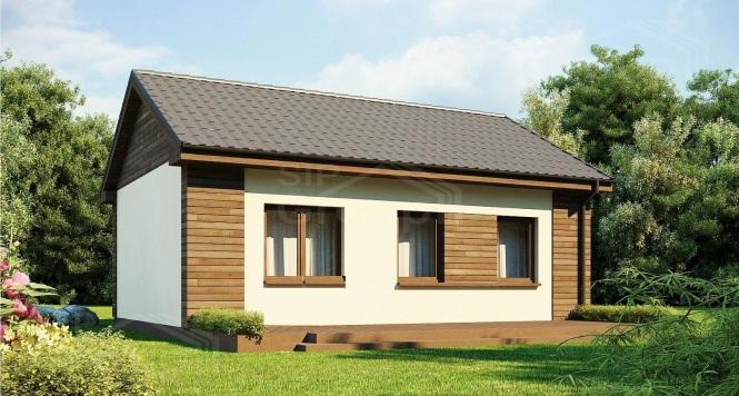 """Проект одноэтажного дома из СИП панелей """"Ласточка"""""""