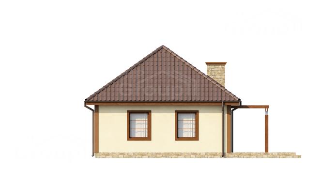 """Проект небольшого дома из СИП панелей """"Лесной"""" - фасад"""