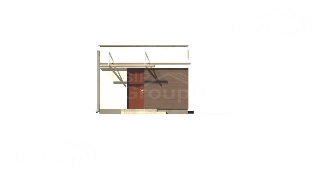 """Проект одноэтажного павильона из СИП панелей """"Микрус"""" - фасад"""