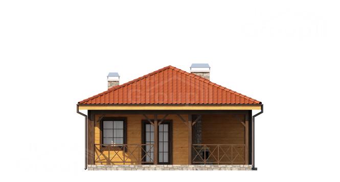 """Проект одноэтажного дома из СИП панелей """"Ранчо"""" - фасад"""