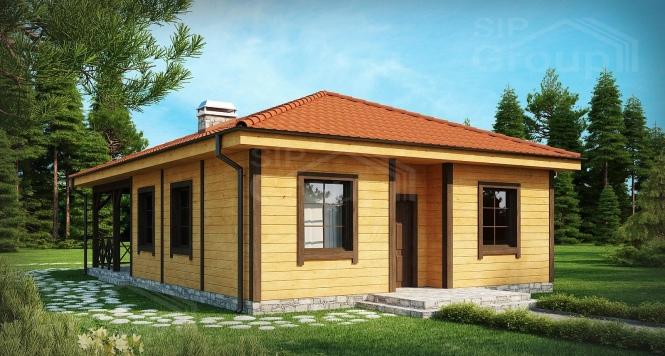 """Проект одноэтажного дома из СИП панелей """"Ранчо"""""""