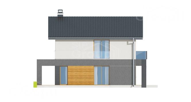 """Проект дома из СИП панелей """"Терем"""" - фасад"""