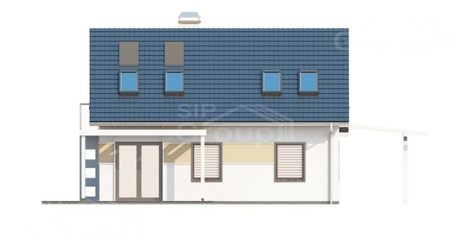 """Проект дома из СИП панелей с мансардой """"Удобный"""" - фасад"""
