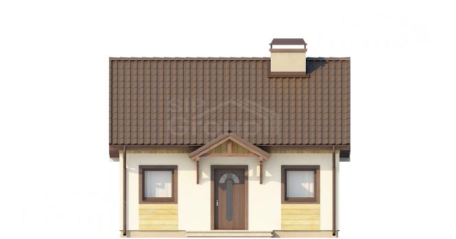 """Проект одноэтажного дома из СИП панелей """"Уютный"""" - фасад"""