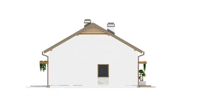 """Проект одноэтажного дома из СИП панелей """"Весенний"""" - фасад"""