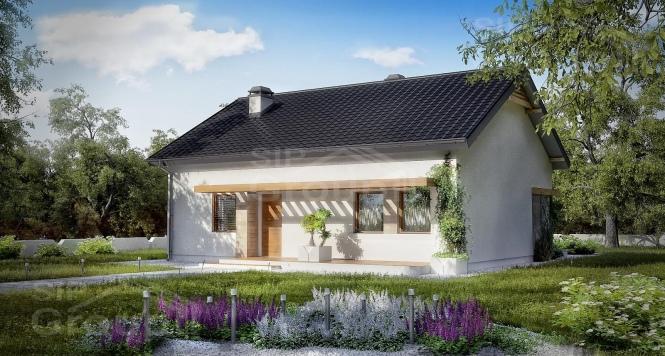 """Проект одноэтажного дома из СИП панелей """"Весенний"""""""