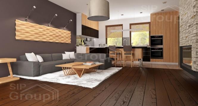 """Проект одноэтажного дома из СИП панелей """"Весенний"""" - фото интерьера"""