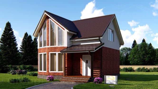 Проект дома из СИП панелей с мансардой