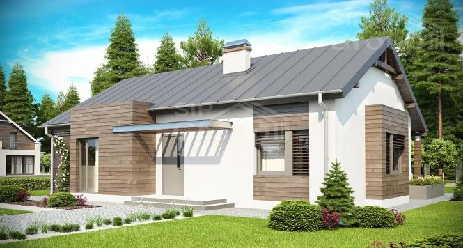 """Проект одноэтажного дома из СИП панелей """"Амброзия"""""""