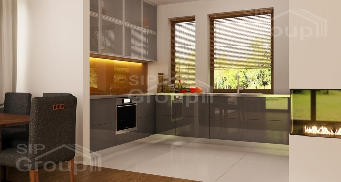 """Проект одноэтажного дома из СИП панелей """"Амброзия"""" - фото интерьера"""