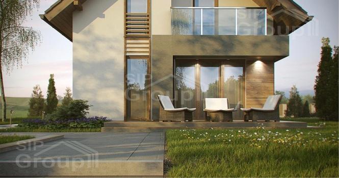 """Проект дома из СИП панелей с мансардным этажом """"Барселона"""""""