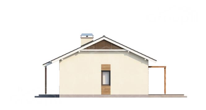 """Проект одноэтажного дома из СИП панелей """"Южный"""" - минимальный размер участка - фасад"""