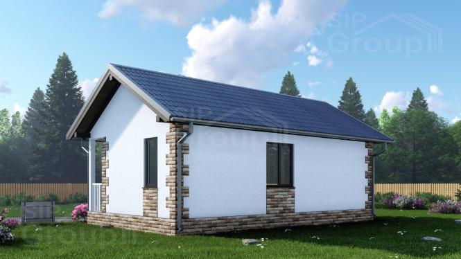 """Проект одноэтажного дома из СИП панелей """"Комфортный"""""""