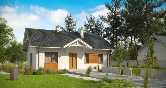 """Проект одноэтажного дома из СИП панелей в традиционном стиле """"Магнолия"""""""
