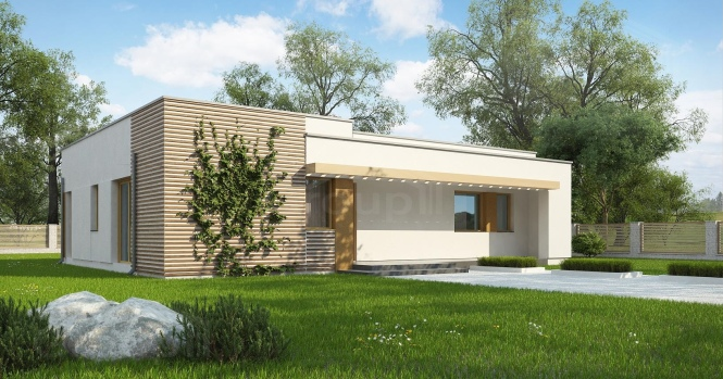 """Проект одноэтажного дома из СИП панелей """"Малибу-2"""""""
