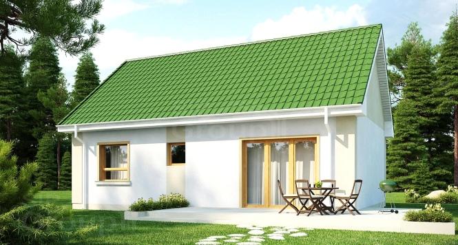 """Проект одноэтажного дома с мансардой из СИП панелей """"Незабудка"""""""