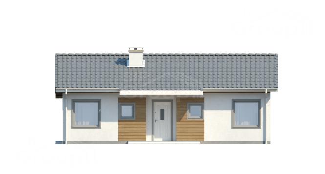 """Проект дома из СИП панелей """"Симпатичный"""" - фасад"""
