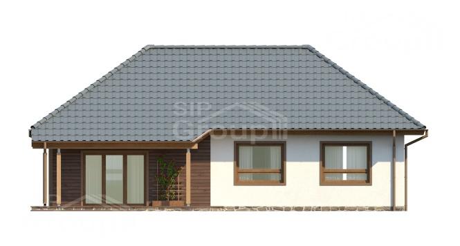 """Проект одноэтажного дома из СИП панелей """"Скандинавия"""" - фасад"""
