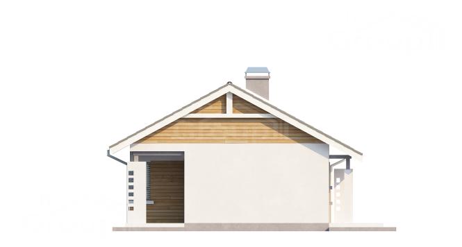 """Проект одноэтажного дома из СИП панелей """"Спокойный"""" - фасад"""