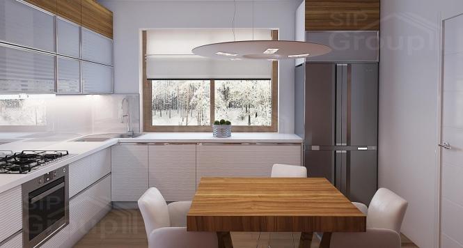 """Проект одноэтажного дома из СИП панелей с двускатной крышей """"Традиционный"""" - фото интерьера"""
