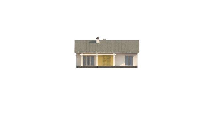 Проект одноэтажного дома из СИП панелей №95 - фасад