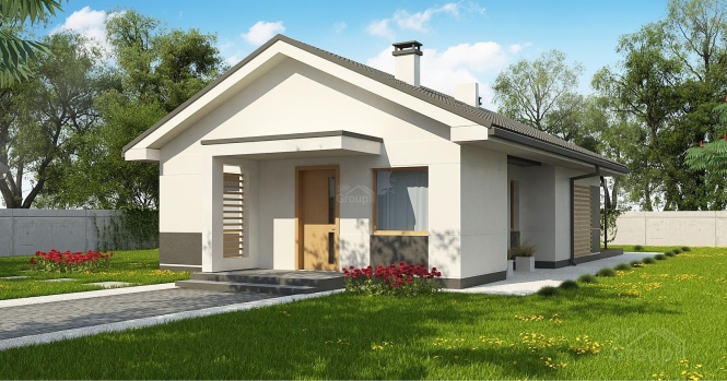 """Проект компактного одноэтажного дома из СИП панелей """"Аметист"""""""