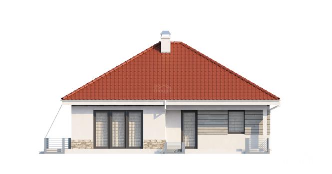"""Проект одноэтажного дома из СИП панелей """"Функциональный"""" - фасад"""