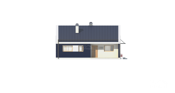 """Проект одноэтажного дома из СИП панелей с террасой """"Эдем"""" - фасад"""