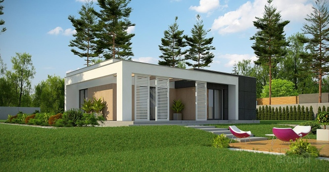 """Проект одноэтажного дома из СИП панелей """"Калифорния"""""""