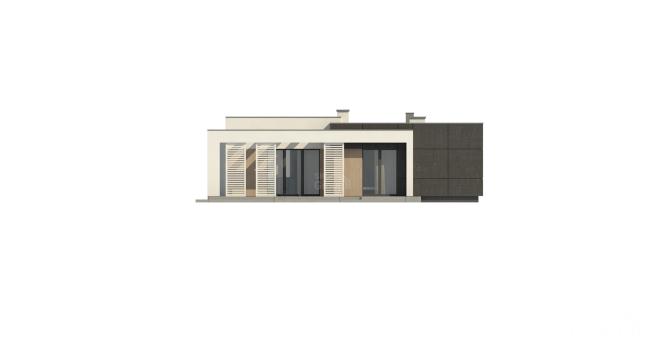 """Проект одноэтажного дома из СИП панелей """"Калифорния"""" - фасад"""
