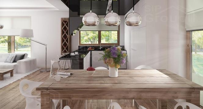 """Проект дома из СИП панелей в стиле хай-тек """"Майами"""" - фото интерьера"""
