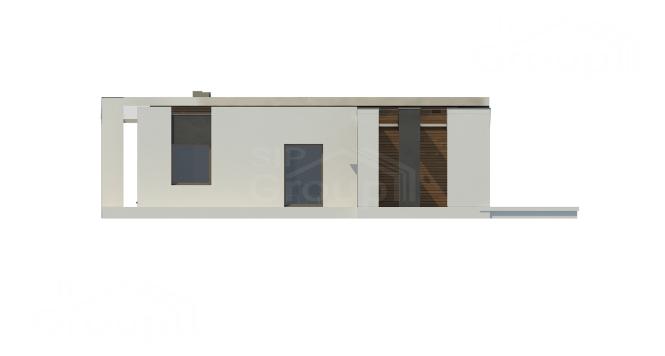 "Проект дома из СИП панелей в стиле хай-тек ""Майами"" - фасад"