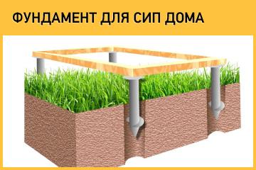 Фундамент для СИП дома на винтовых сваях