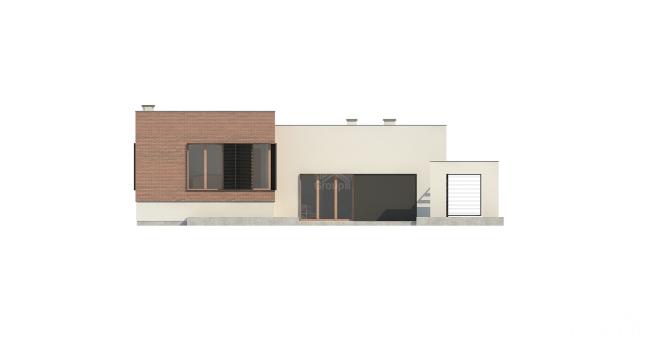 "Проект дома из СИП панелей ""Линкольн"" - фасад"