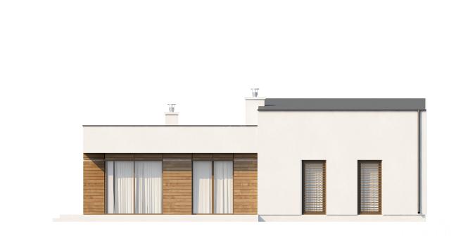 """Современный загородный дом из СИП панелей """"Линкольн"""" - фасад здания"""