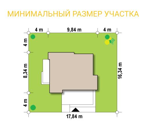 """Торговый павильон из СИП панелей """"Торговус 2"""" - минимальный размер участка"""