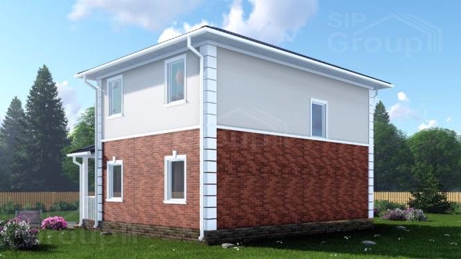 """Проект дома из СИП панелей """"Ноттингем"""""""