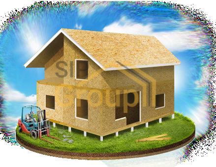 Комплектация СИП дома №2 - Домокомплект + фундамент + монтаж