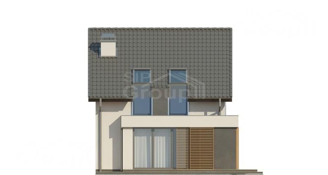 "Проект дома из СИП панелей ""Бриз"" - фасад"